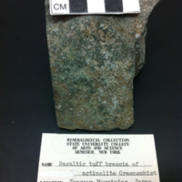 Basaltic Tuff Breccia of Actinolite Greenschist