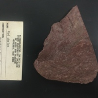 DUCO-1 hand sample of red shale